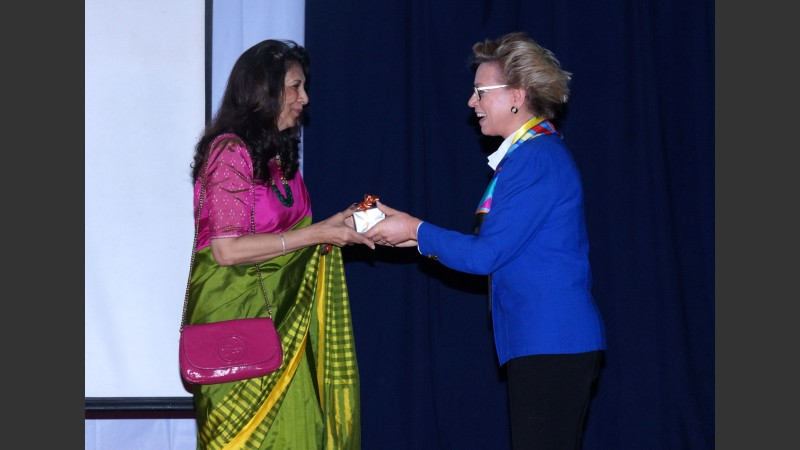Dr Indu Shahani and Beatrice Caston